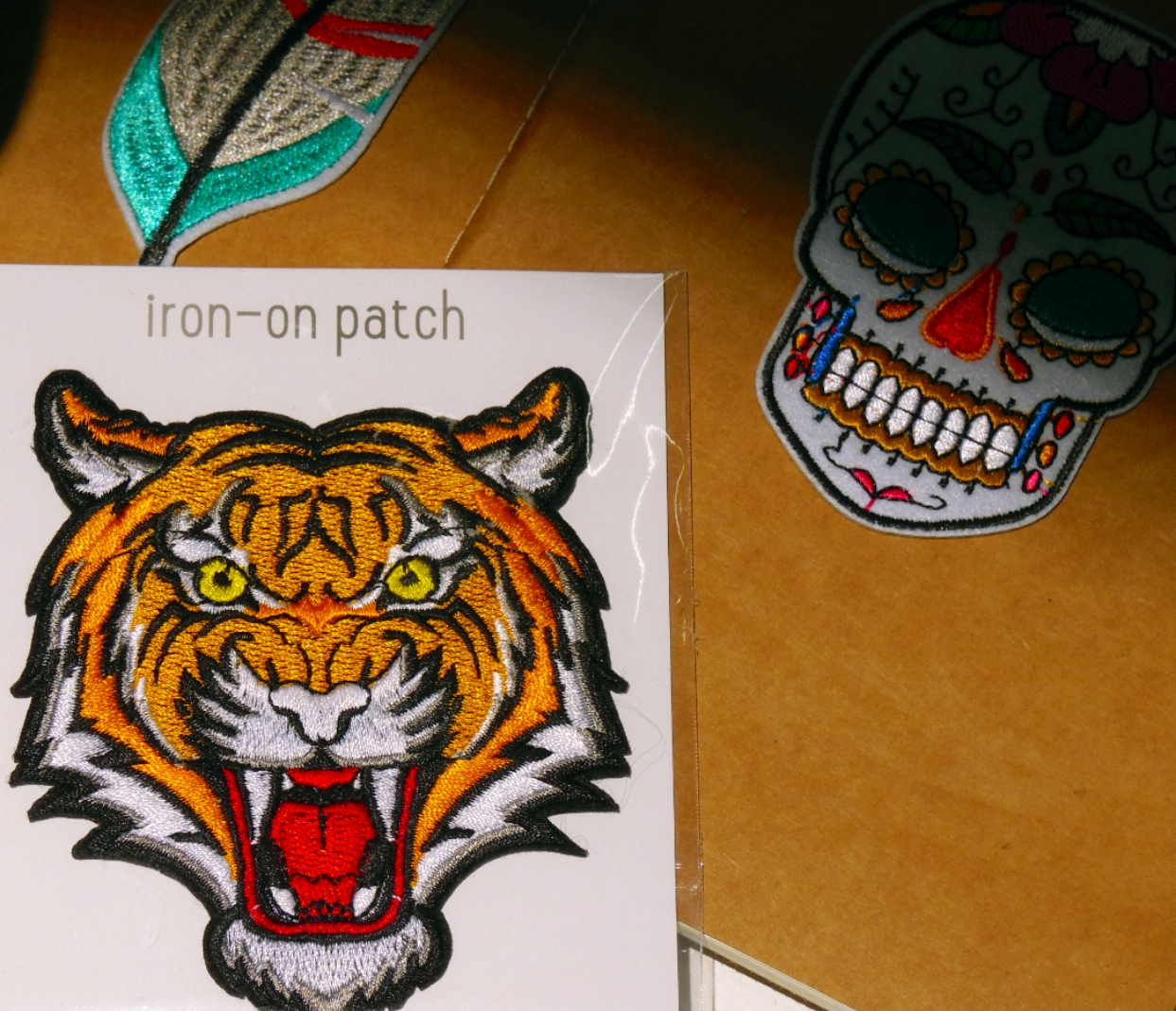 judith in wonderland  #patches #tiger #embroidery #bijkiki